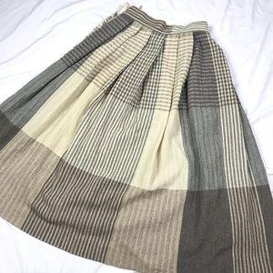 Liz Claiborne Skirts - Vintage Patchwork High Waist Wool Blend Skirt